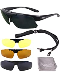 Rapid Eyewear Innovation Plus Modelglasses: Polarised Rx Sunglasses Frame for Spectacle Wearers. For RC and General Sports Use, With Interchangeable Lenses