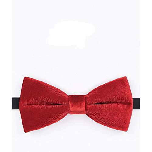 WATERMELON Textured Velvet Big Red Fliege Mode Herren Kleid Zubehör Hochzeit Groomsmen Casual Party Neckcloth Bow Ties (Bow Rot Tie Red Hosenträger)