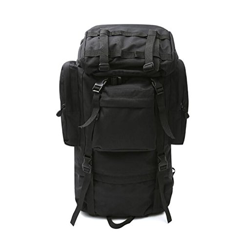 Wmshpeds Camping 70L a grande capacità sacchetto di alpinismo camuffamento maschio femmina zaino travel borsa a tracolla tattiche digitale D
