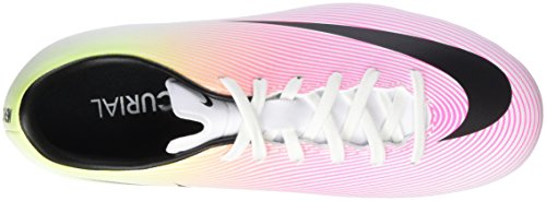 Nike Mercurial Victory V Fg, Chaussures de Football Mixte Enfant Blanc (White/Black Volt Total Orange)