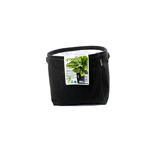 Gronest 1-L 2-L 4-L 8-L 11-L 15-L 19-L 25-L Topf (5, 15-Liter) Textil Blumen Stoff Kübel Container Behälter Grow Hydro-kultur Eckig Aussaattopf Saat-topf Pflanzkorb