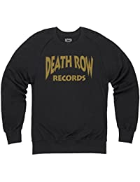 Official Death Row Records Block Brown Logo Sweatshirt mit Rundhals, Herren