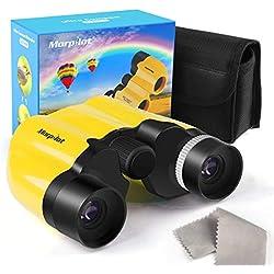 Prismáticos Niños 8x21 ,Mini Binoculares Portátil 128M/1000M Lentes BAK4 Campo Visión 8.5° Binoculares Niños Incluye Funda Correa Observación Excursión Regalo Navidad los Reyes