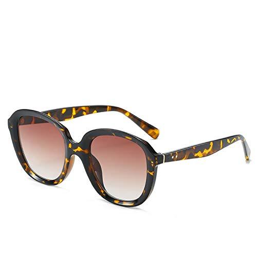 FIRM-CASE Sonnenbrille Runde Vintage Retro Schatten Sun-Glas-Übergroße große schwarze Farbtöne Brillen, 4