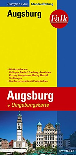 Preisvergleich Produktbild Falk Stadtplan Extra Standardfaltung Augsburg
