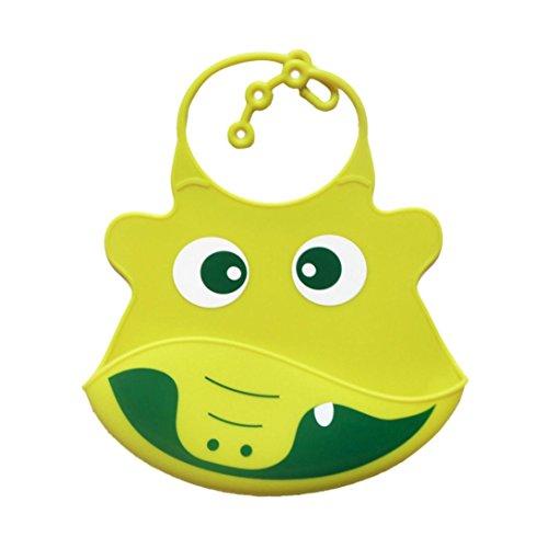 Hirolan Niedlich Tropfend Lätzchen Kind Säugling Lätzchen Baby Weich Silikon Lätzchen Wasserdicht Speichel - Monsters Ball-halloween-party