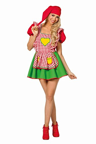 Für Gartenzwerg Kostüme Erwachsene (Damen Kostüm Märchen Zwerg Gartenzwerg Karneval Fasching)