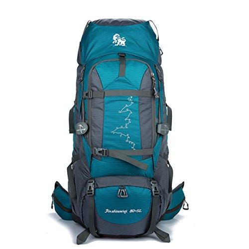 Outdoor Bergsteigen Tasche Camping Wandern Rucksack 85L Beruflich Trägt System Sea