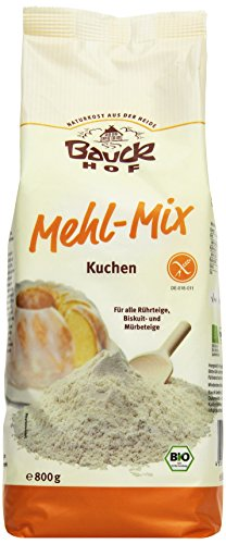 Bauckhof Mehl-Mix Kuchen glutenfrei, 2er Pack (2 x 800 g) - Bio