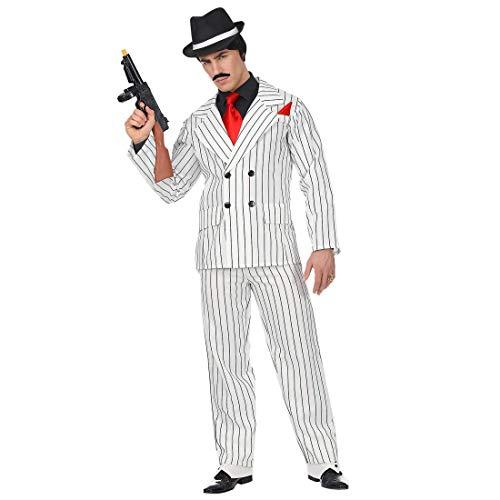 Widmann Srl Costume Gangster da Uomo Adulti, Multicolore, WDM65772