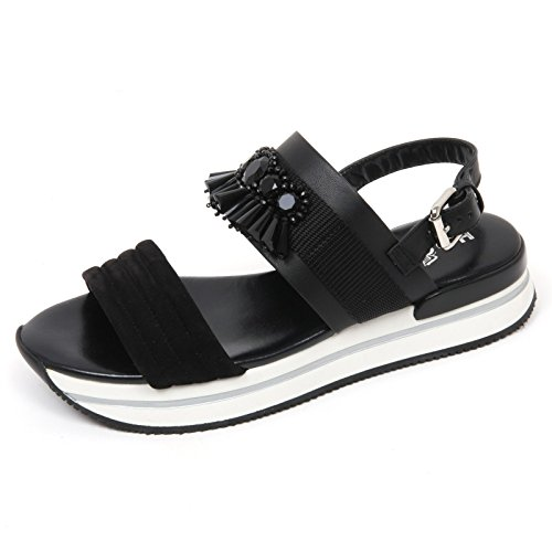 C8832 sandalo donna HOGAN H257 scarpa pietre nero sandal shoe woman [36]