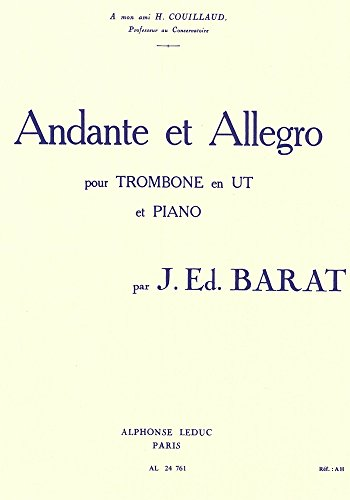 ANDANTE ET ALLEGRO TROMBONE ET PIANO Japan Allegro