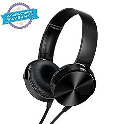 5g Gold On-Ear EXTRA BASS Headphones (Black)