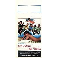 La Vedova del Trullo Póster de película italiana 13x 28en–34cm x 72cm rosa Fumetto Carlo giuffrè Mario Carotenuto Enzo Valli