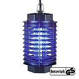 Gardigo - Destructeur Insectes Electrique; Pièges à Insectes; Lampe UV Anti-mites, Moustiques, Mouches et Moucherons; 4 Watt; Testé SGS GS