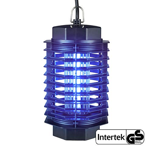 Gardigo - Zanzariera elettrica; Lampada Insetticida Ammazza zanzare con Luce UV; Trappola insetti - Portata 50 m², SGS GS