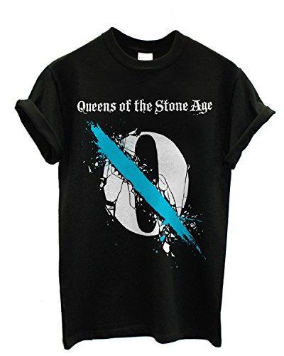 T-shirt Uomo - Queens of the Stone Age maglietta con stampa rock 100% cotonee LaMAGLIERIA,M, Nero