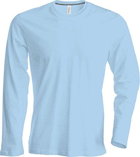 Herren T-Shirt langarm Sky Blue