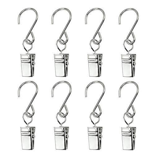 GuangTouL Lutoul Party-Lichterhakenringe, 30 Stück für Außenbeleuchtung, Clips, Edelstahl Vorhangclip/Metalldrahthalter, Lichterkette, Outdoor-Aktivitäten, Partyzubehör (Außenbeleuchtung Für Camper)