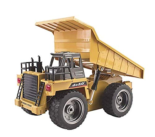deAO Muldenkipper BAU Fahrzeug Truck 2,4GHz Sync System für mehrere Spieler inklusive wiederaufladbare Batterien und Ladegerät