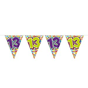 Folat Nuevo Banderolas Birthday Blocks 13, 6m, 1Stk.