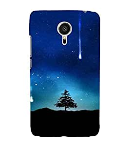 Tree Pattern, Blue, Night Pattern, Beautiful Pattern, Printed Designer Back Case Cover for Meizu MX5