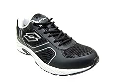 Lotto Mens MAIORCA 3 Mesh Running Shoes (UK 8, BLACK/WHITE)