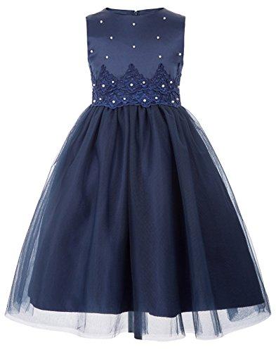 GRACE KARIN Maedchen Marineblau Kommunion Kleid Blumenmaedchen Kleid 9-10 Jahre