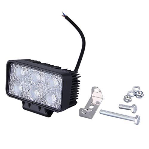 Sairis 4 Pouces 18W LED lumière de Travail inondation/Spot lumière Conduite Tout-Chemin Barre de Guidage LED 12V 24V 4x4 Camion Moto Bateau Tracteur Barra (1)
