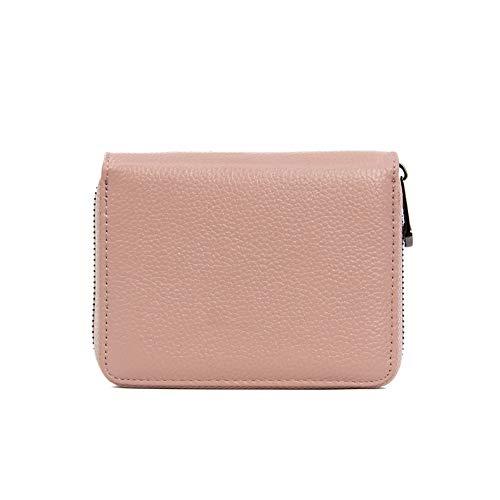 Rojeam Leder Akkordeon Geldbörse Kreditkarten Organizer Handtasche Reisegeldbörse mit Reißverschluss RFID -