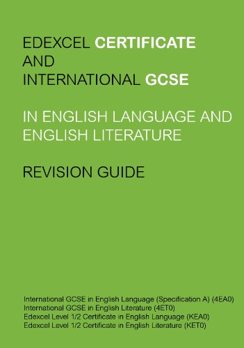 Edexcel igcse and certificate in english language and literature edexcel igcse and certificate in english language and literature revision guide by sharma mrinank fandeluxe Gallery
