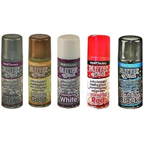 2x Effetto glitter colore Spray Pittura decorativa Creazioni, oro