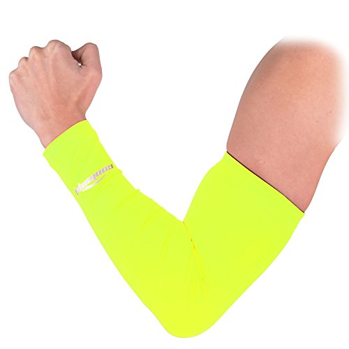 COOLOMG Solid Color manica a compressione Protezione dai raggi UV,