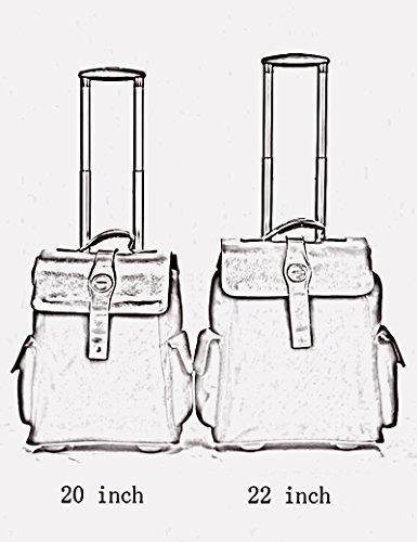 Oxford Material Kann Schulter zurück sein Kann Trolley Tasche ziehen Reisetasche Hochleistungsgepäck Tasche ( Farbe : 3 , größe : 22 inchs ) 3