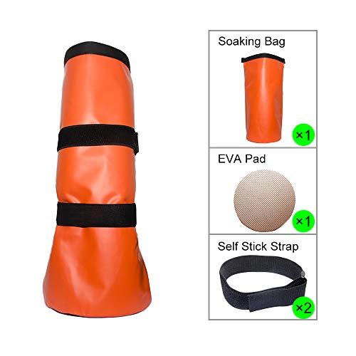 Taktisches Element Huftuch Einweichen, wiederverwendbar, Geflügelstiefel Soaker Pferde-Fuß-Behandlung Tasche mit Eva-Polster und Selbstklebendem Gurt, 2 Stück - 2 Stück Polster