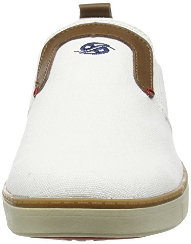Dockers by Gerli 38se003-712, Baskets Basses homme Blanc - Weiß (weiss/blau 506)