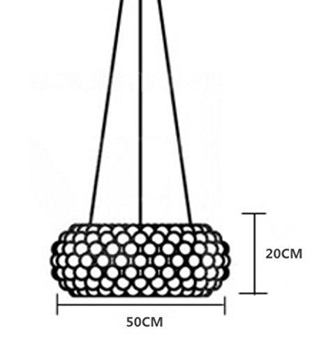 Moderner Acryl Kronleuchter, 2 X E27, Ø 50 cm - 7
