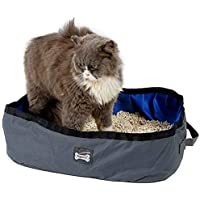 NACOCO Foldable Cat Litter Box Portable Pet Toilet Strong Fabric Collapsible Lavatory Basin Outdoor Waterproof Litter…
