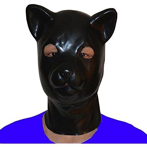 EXLATEX Gato de l¨¢tex Animal Maskn Cosplay Fetiche Accesorios