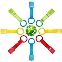Celyc Anillas para Cunas y Parques,Ideales para ayudar al bebé a Ponerse de Pie fácilmente,8pcs,Multicolor,Cómodo y Suave