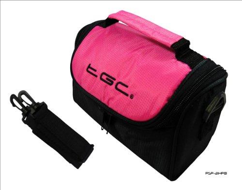 Reisetasche New Hot Pink & Schwarz für Garmin FishFinder echotm 300C SAT NAV GPS 300 Fishfinder