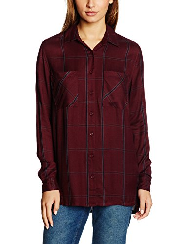 New Look Urban Grid, T-Shirt Femme Red (Dark Burgundy)