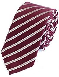 Krawatte schmal von Fabio Farini in Rot