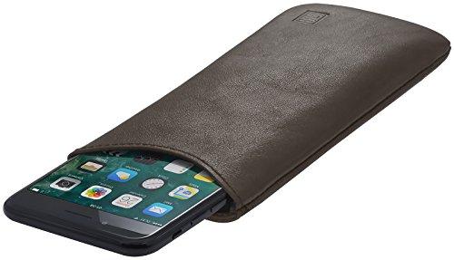 StilGut Pouch, Universal-Hülle aus feinstem Nappaleder | Sleeve Handyhülle Größe L für z.B. Samsung Galaxy S7, Huawei Honor P9 Lite, Samsung S6 Edge, OnePlus X u.a, Mokka Nappa