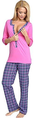 Umstandsschlafanzug aus Baumwolle in verschiedenen Farben und Muster