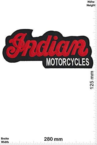Patch - Indian Motorcycles - Schrift- 28 cm - Bigpatch - Motorsport - Motorsport - Indian - Aufnäher - zum aufbügeln - Iron On