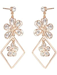 Archies Fashion Jewellery Summer Special Stylish Fancy Earrings With White Stone For Girls And Women | Gift |...