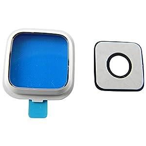 Samsung Galaxy Note 4 N910F Kamera Glas Abdeckung (echt Glass) Kameraglas Kameralinse Cover Linse Rahmen + Abdeckung + Klebepad Komplett 3in1 Scheibe Rahmen Weiß - ToKa-Versand®