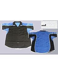 Lisaro - Camisa para dardos o bolos, color negro y azul negro negro/azul Talla:medium