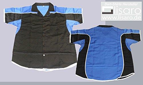 Darthemd / Bowlinghemd schwarz/blau (5XL)